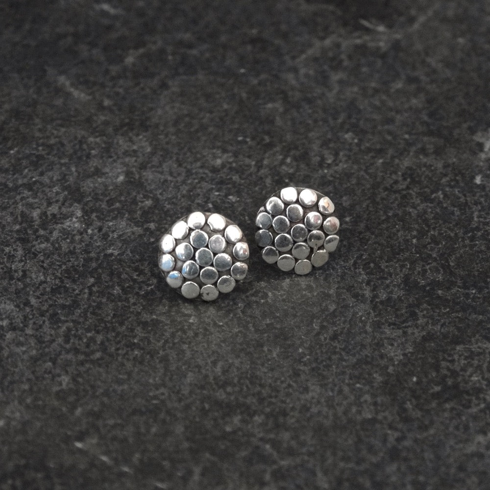 Sterling Silver Circle Stud Earrings - Beyond Biasa