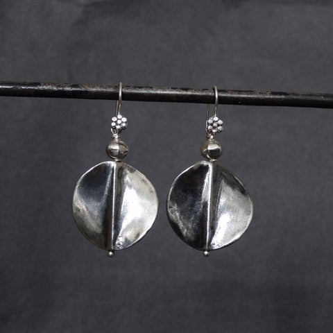 Oxidised Sterling Silver Twist Earrings