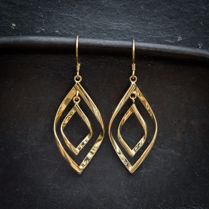 Gold Vermeil Double Twist Earrings - Beyond Biasa