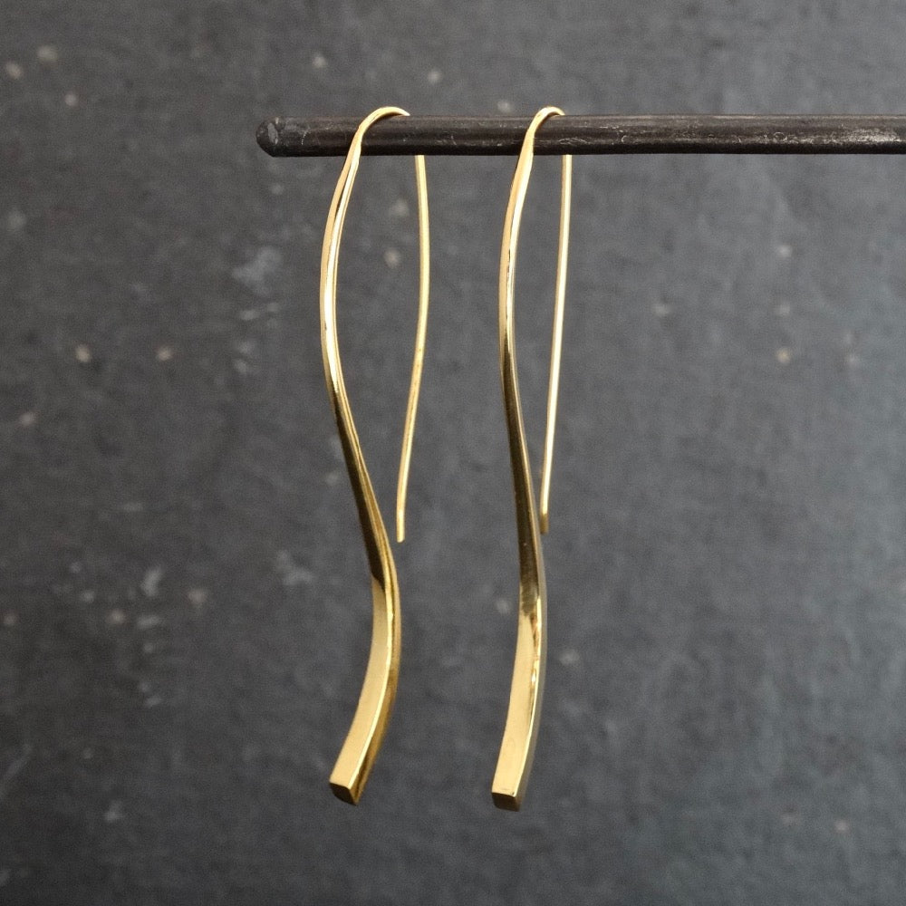 Gold Vermeil 'Flick' Earrings - Beyond Biasa