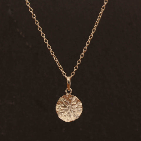 Sterling Silver Organic Circle Pendant