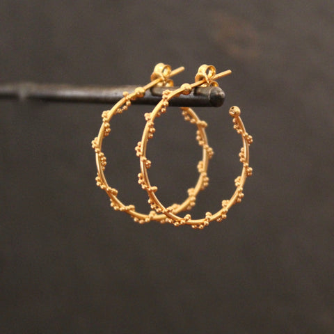 Gold Vermeil Twist Hoop Earrings - Beyond Biasa