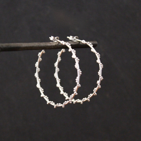 Sterling Silver Twist Hoop Earrings - Beyond Biasa
