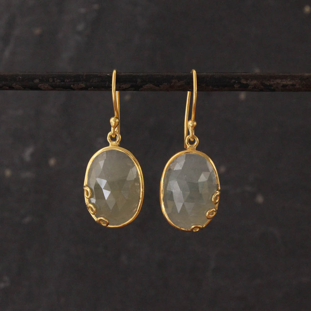 Sapphire and Gold Vermeil Drop Earrings