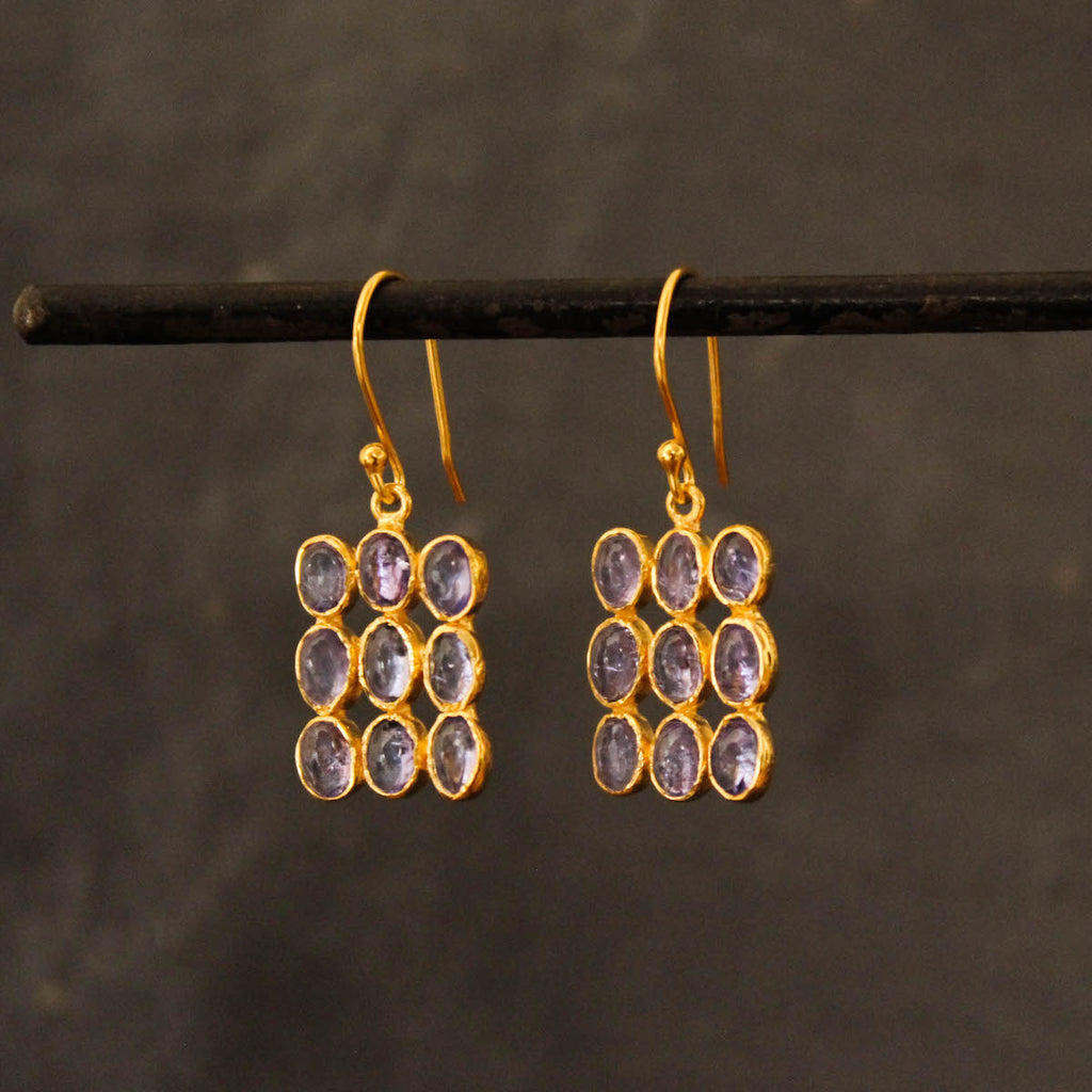 Tanzanite and Gold Vermeil Earrings