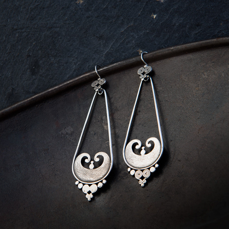 Sterling Silver 'Sumba' Earrings - Beyond Biasa