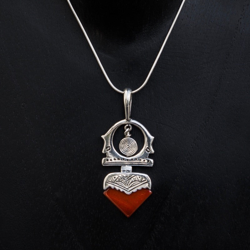 Carnelian and sterling silver tuareg pendant and chain beyond biasa carnelian and sterling silver tuareg pendant and chain beyond biasa mozeypictures Images