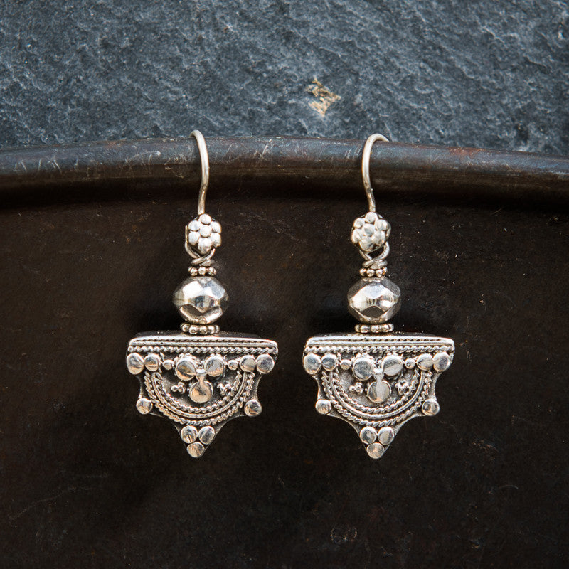 Sterling Silver Telsum Earrings - Beyond Biasa