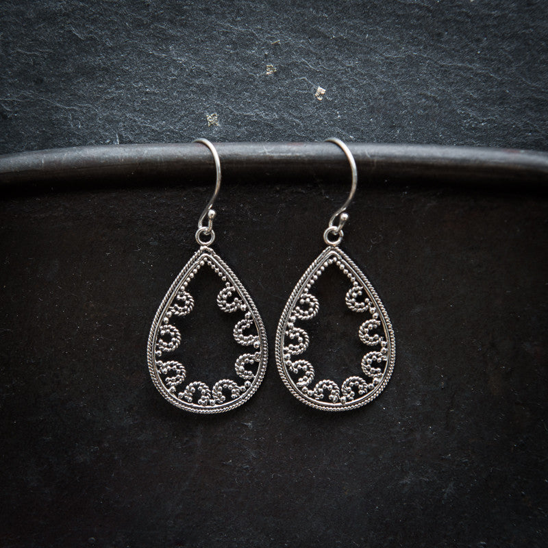 Sterling Silver Teardrop Earrings - Beyond Biasa