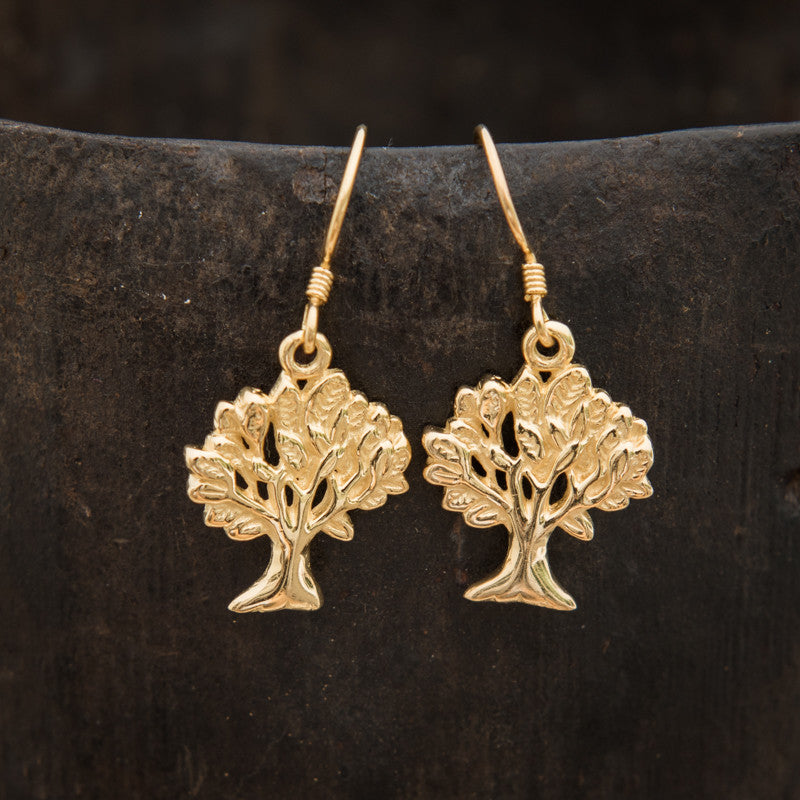 Gold Vermeil 'Tree of Life' Earrings - Beyond Biasa