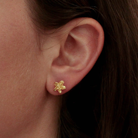 Gold Vermeil Flower Stud Earrings