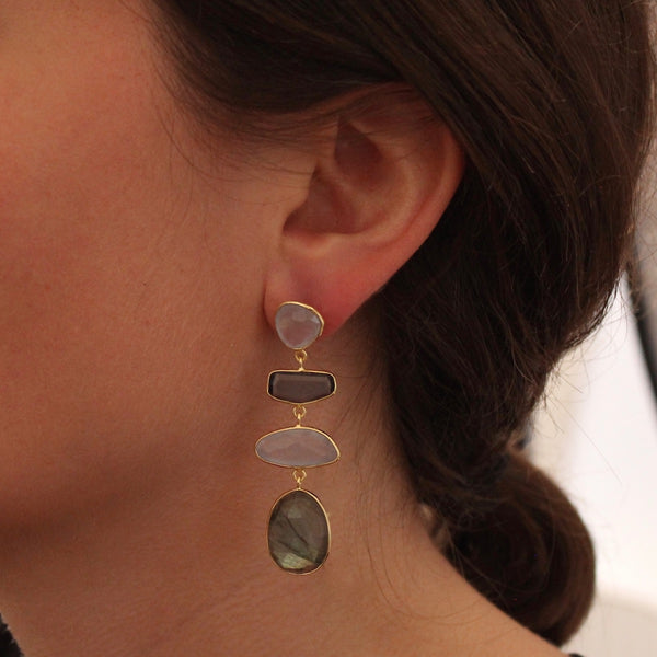 Chalcedony, Kyanite and Labradorite Abstract Drops - Beyond Biasa