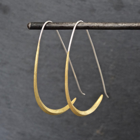 Mixed Metals Minimal Hoop Earrings - Beyond Biasa