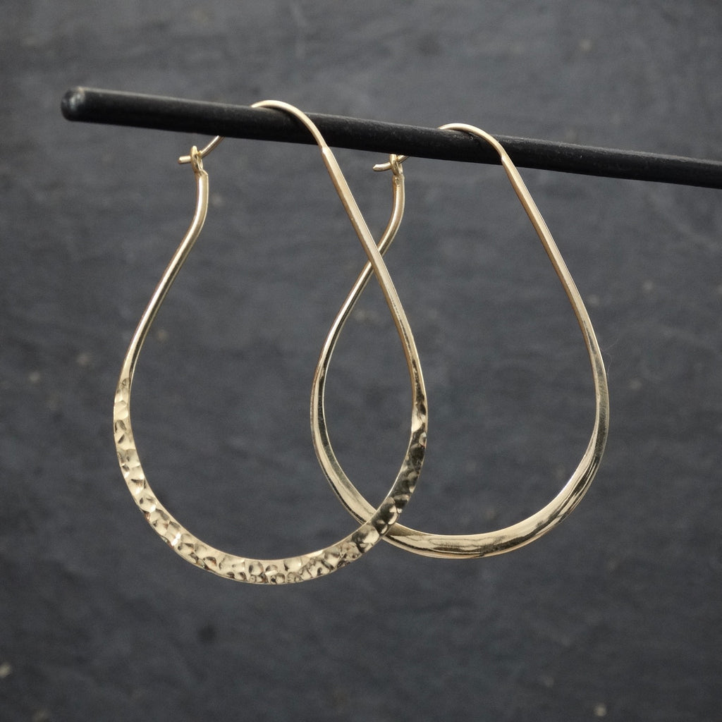 Hammered Gold Vermeil Hoop Earrings - Beyond Biasa