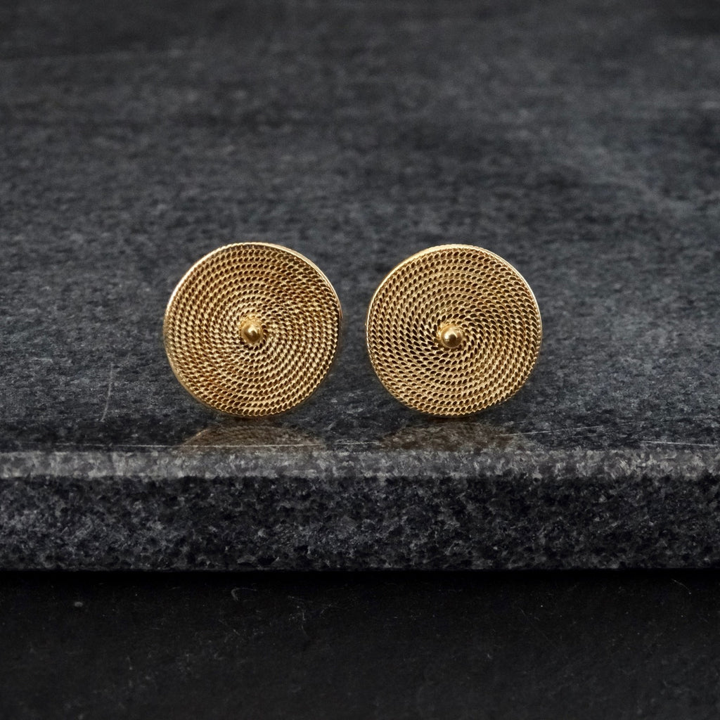 Gold Vermeil Wirework Stud Earrings - Beyond Biasa