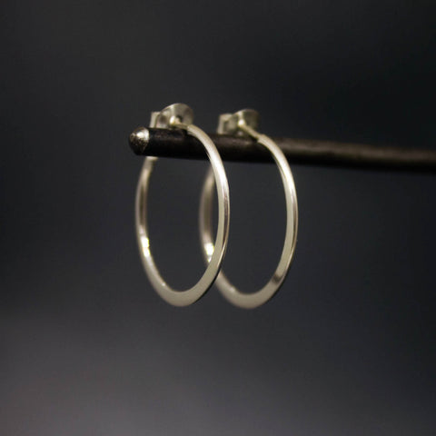 Minimal Silver Hoop Earrings