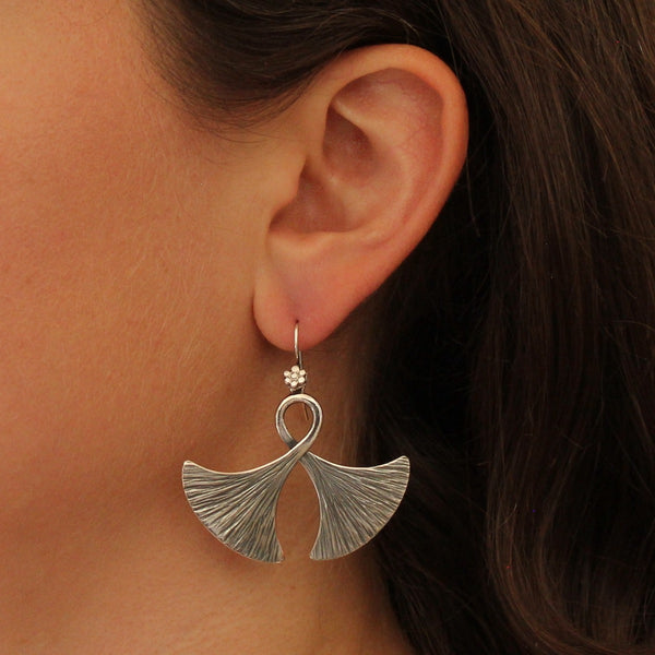 "Sterling Silver ""Double Axe"" Earrings"