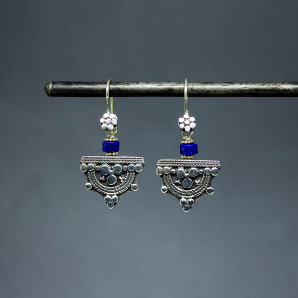 Lapis and Sterling Silver Telsum Earrings
