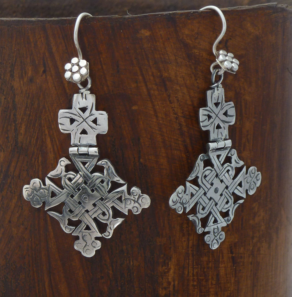 Sterling Silver Lalibela Earrings - Beyond Biasa