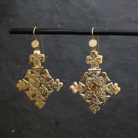 Gold Vermeil Lalibela Earrings - Beyond Biasa