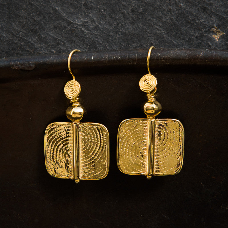 Geometric Gold Vermeil Earrings - Beyond Biasa
