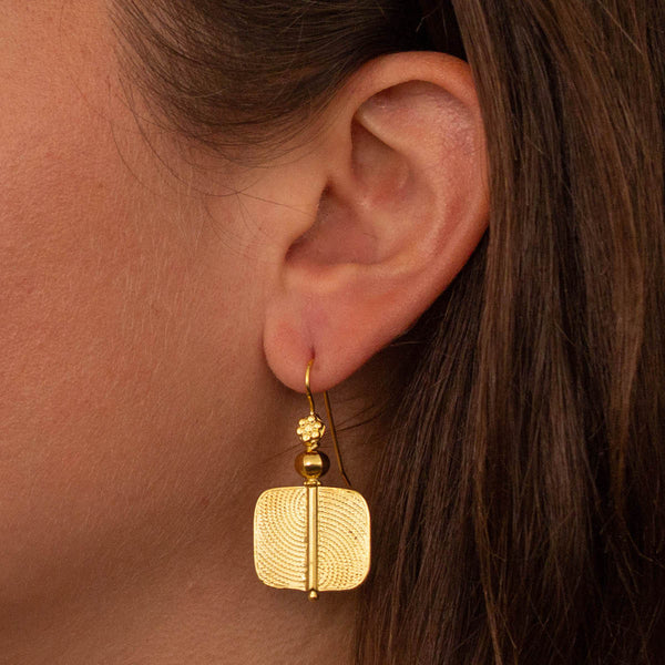 Geometric Gold Vermeil Earrings
