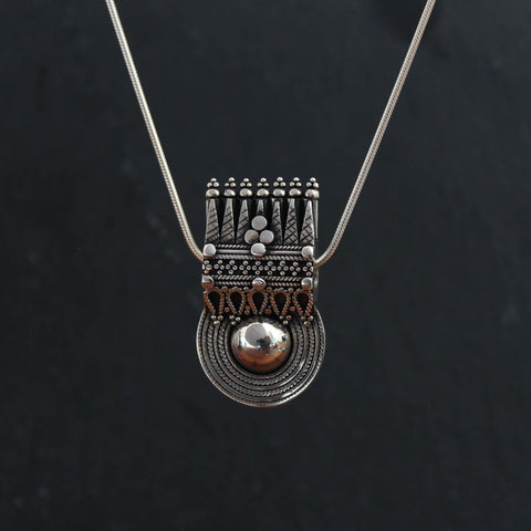 Sterling Silver South Indian Bead Pendant