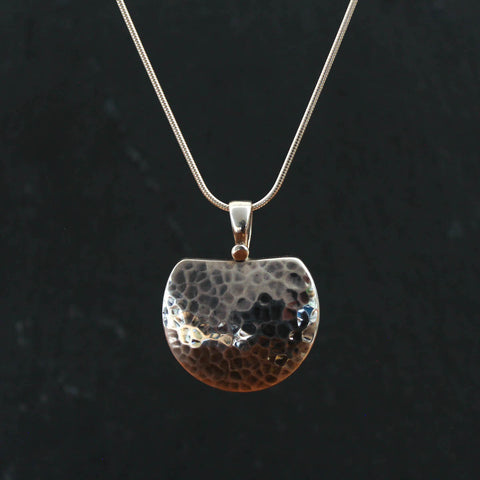Hammered Sterling Silver Pendant