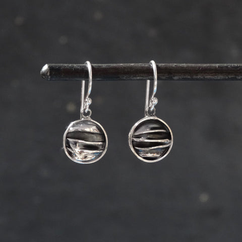 Textured Silver Circle Earrings - Beyond Biasa