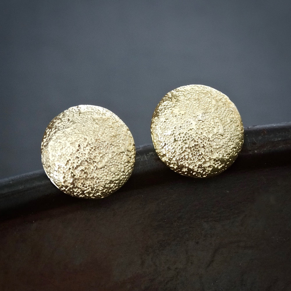 Gold Vermeil Irregular Granulation Stud Earrings - Beyond Biasa