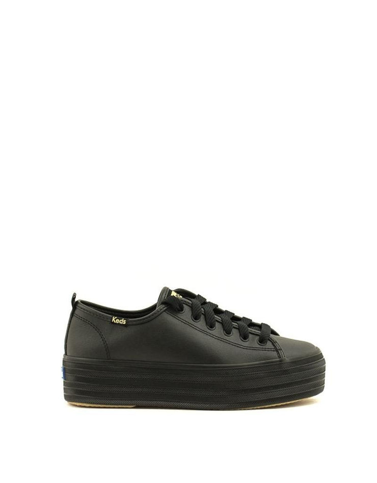 Keds Triple Up Leather Sneaker Black/Black
