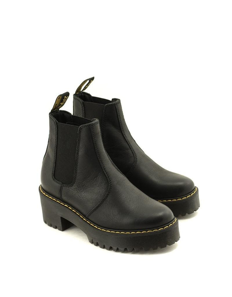 Dr. Martens Rometty Boot Black Burnished Wyoming Leather