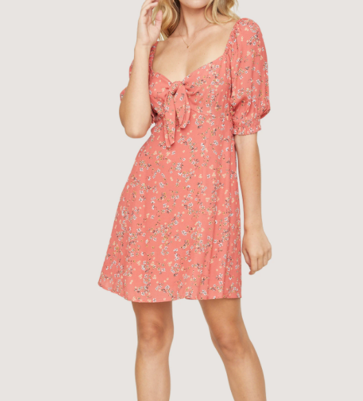 Lost & Wonder - Dress - Mini - Floral - Tir Front