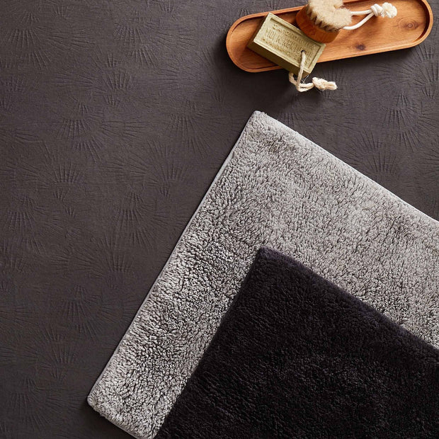 Banas bath mat, light grey, 100% cotton | URBANARA bath mats