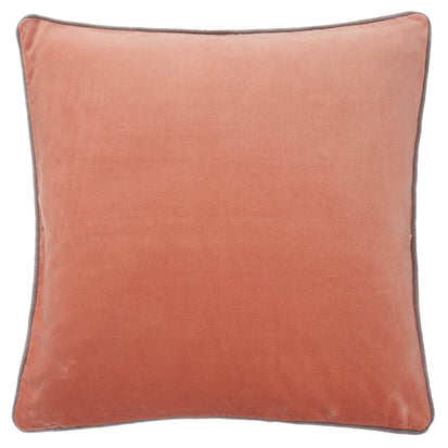 Suri cushion cover, papaya & grey, 100% cotton