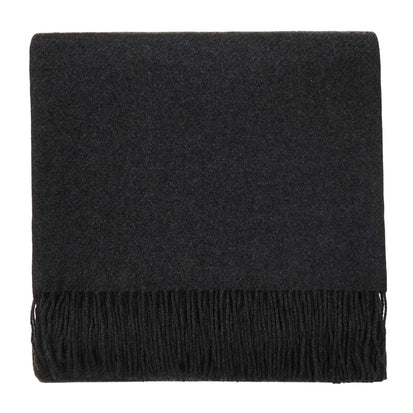 Almora blanket, charcoal, 50% cashmere wool & 50% wool