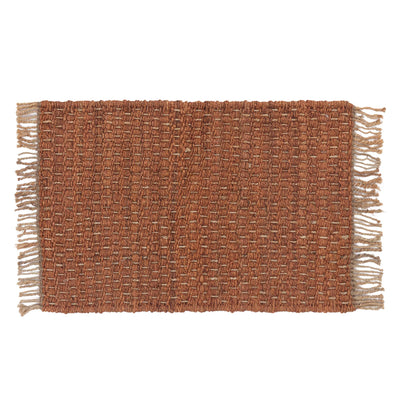 Baruva Doormat terracotta & natural, 100% jute