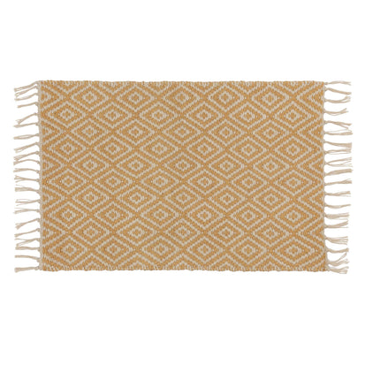 Dasheri Doormat mustard & cream, 100% jute
