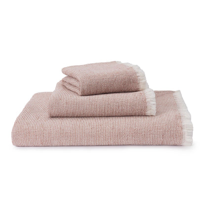 Fraiao Towel [Rosewood/Natural white]