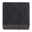 Gotland Dia Wool Blanket [Dark blue/Grey]