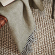 Gotland Sheri Blanket in olive green & grey | Home & Living inspiration | URBANARA