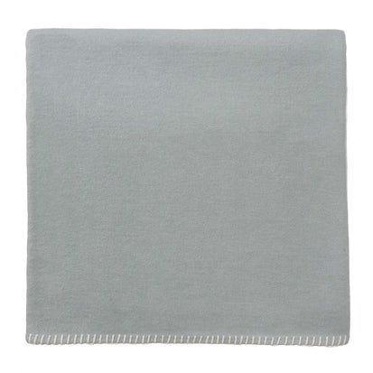 Laussa Blanket light green grey & off-white, 100% organic cotton
