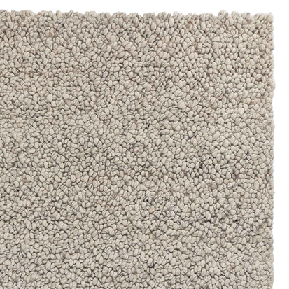 Panchu rug, silver grey & grey, 45% wool & 45% viscose & 10% cotton