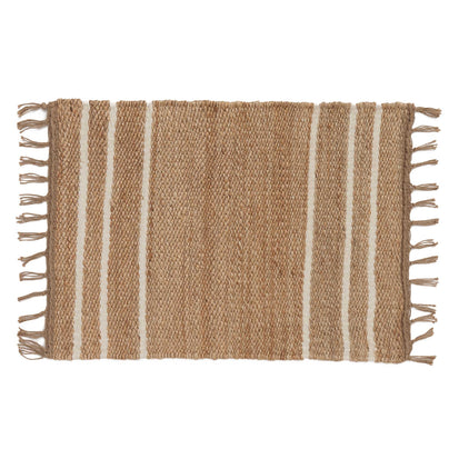 Sankra Hemp Door Mat natural & ivory, 90% hemp & 10% wool