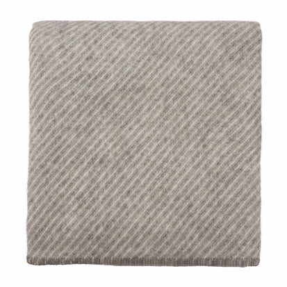 Santaka Wool Blanket grey & off-white, 100% new wool