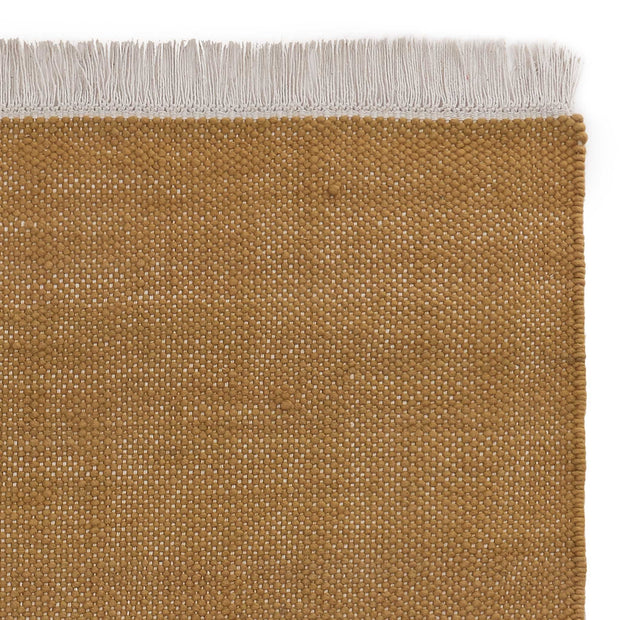 Tadali Wool Rug ochre & off-white, 70% wool & 30% viscose