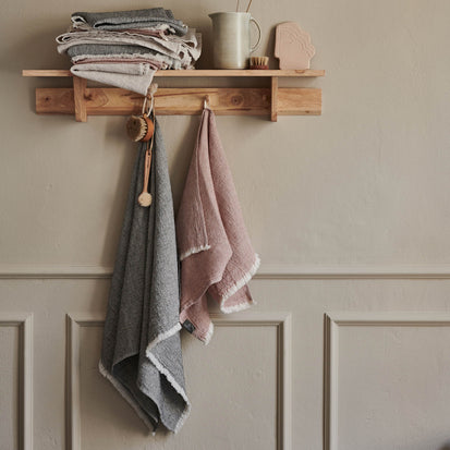 Fraiao Towel in rosewood & natural white | Home & Living inspiration | URBANARA