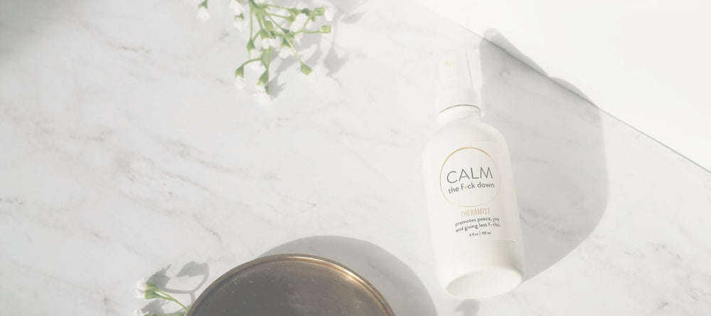 Decorative photo of calming aromatherapy spray