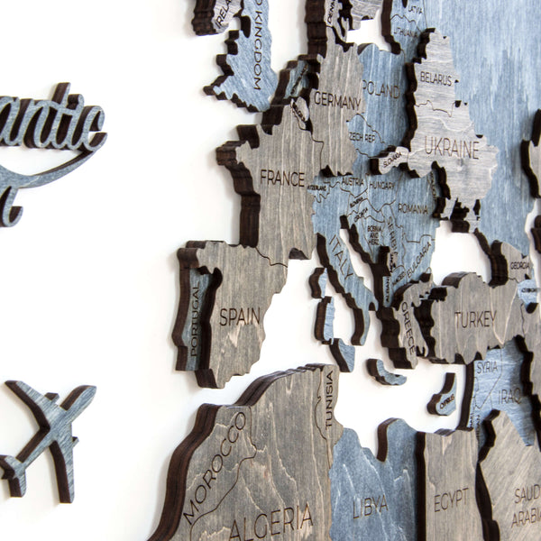 3D Map of the World from Wood