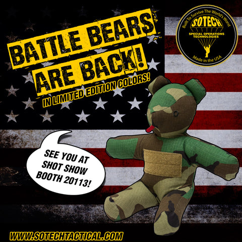 Battle Bear Woodland BEAR-WDLND